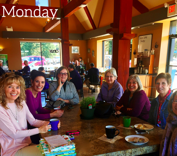 Almost Wordless Wednesday: Meeting of artists/crafters