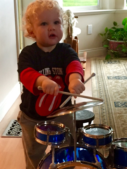 Becoming a Grandparent: Charlie with Drums
