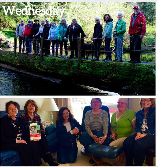 Almost Wordless Wednesday: Hiking and Book Club