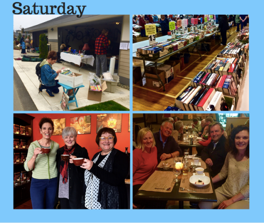 Almost Wordless Wednesday: Flea Markets, Coffee Tasting and Dinner with Friends