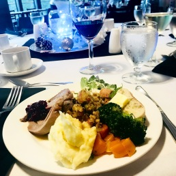 I realize that this shot should probably go in the 'food & drink' section of this post. But, it was my best shot from the BC Retired Teachers' Association Christmas Luncheon.